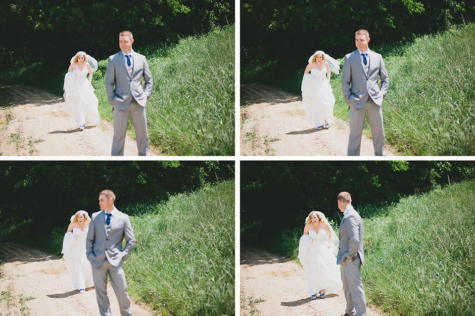 Snode's Restored Country Barn Wedding Ohio First Look